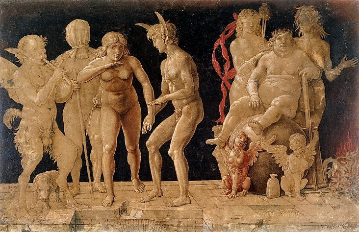 Mantegna Allegory of the Fall of Ignorant Humanity Virtus Combusta British Museum