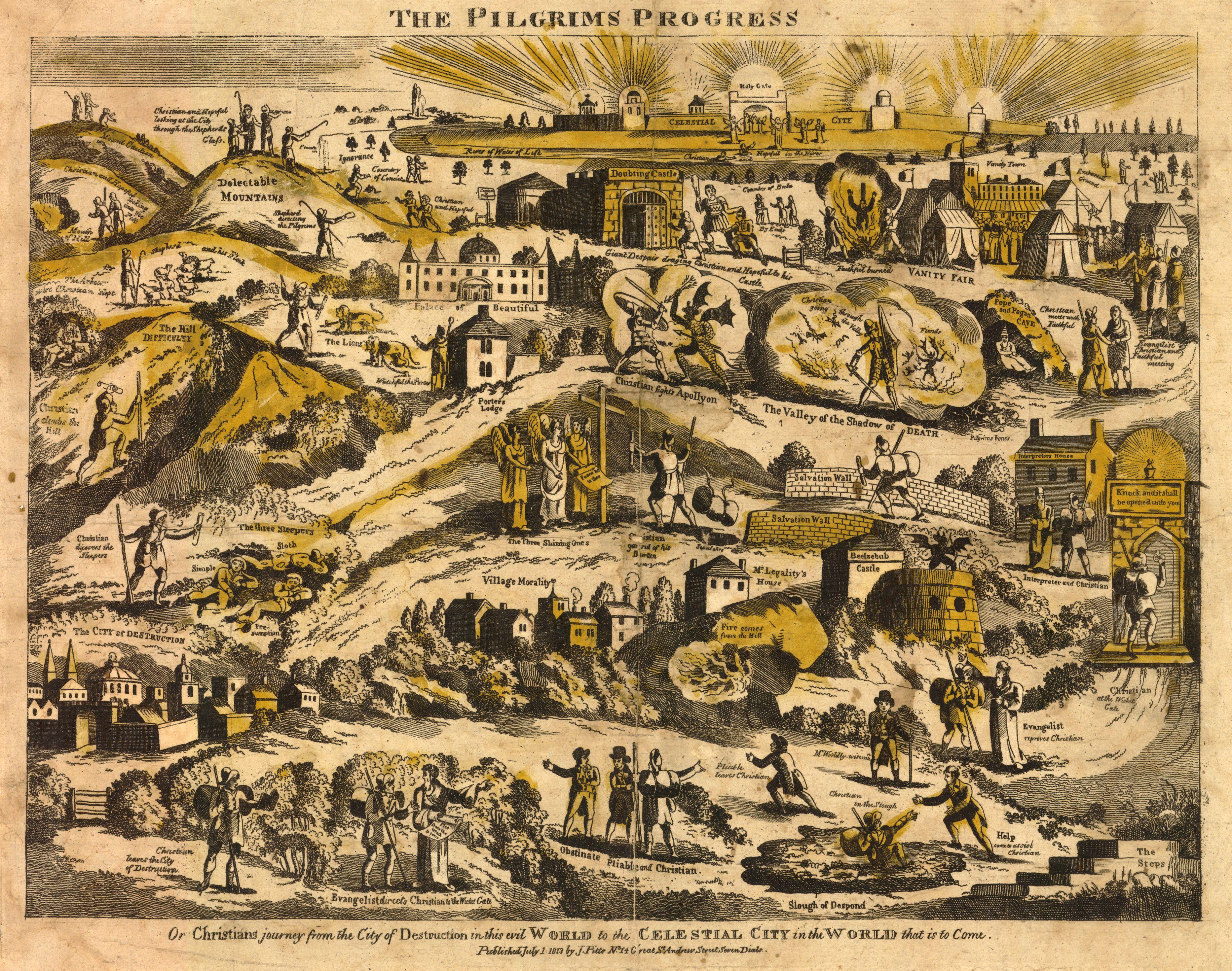 Pligrim's progress John-Bunyan 1813