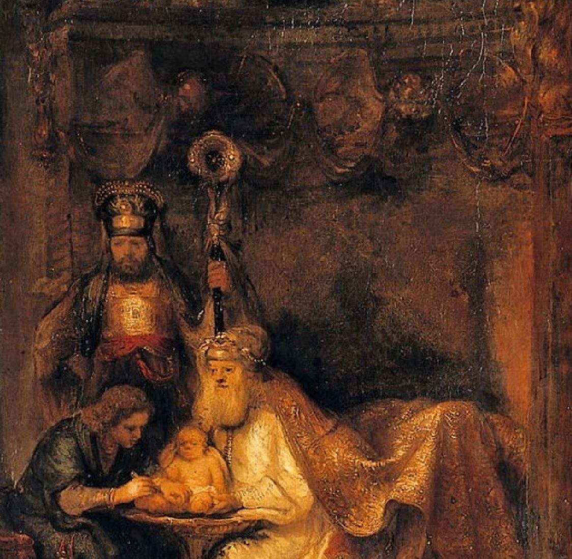 Rembrand (studio) 1646 Circumcision_of_Christ,_sHerzog_Anton_Ulrich-Museum,_Braunschweig detail