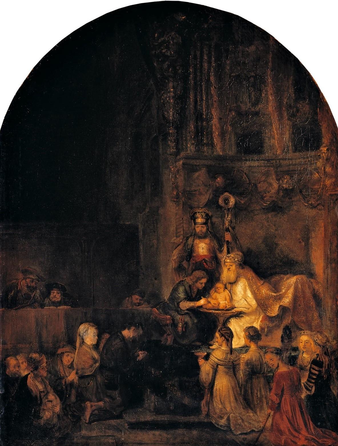 Rembrand (studio) 1646 Circumcision_of_Christ,_sHerzog_Anton_Ulrich-Museum,_Braunschweig
