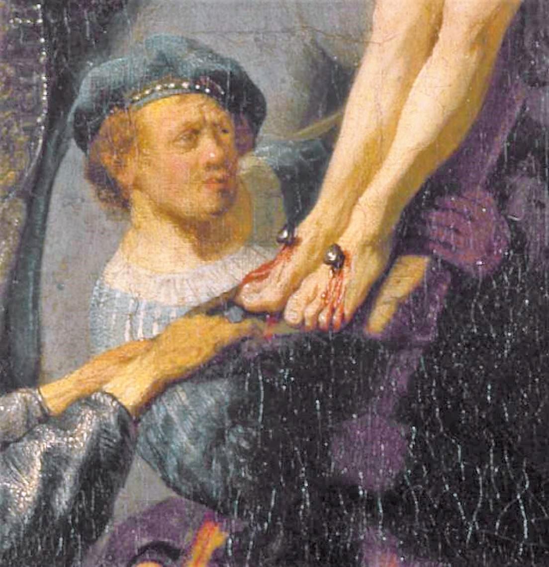 Rembrandt 1633 Elevation de la Croix, Alte Pinakothek Munich detail