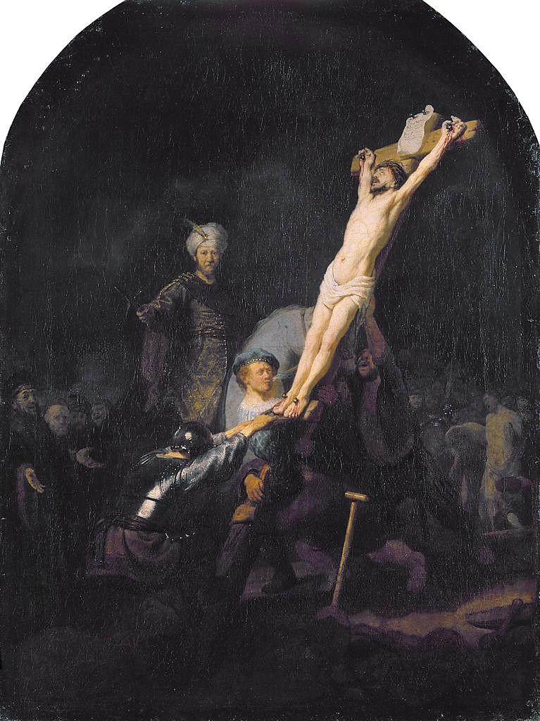 Rembrandt 1633 Elevation de la Croix, Alte Pinakothek Munich