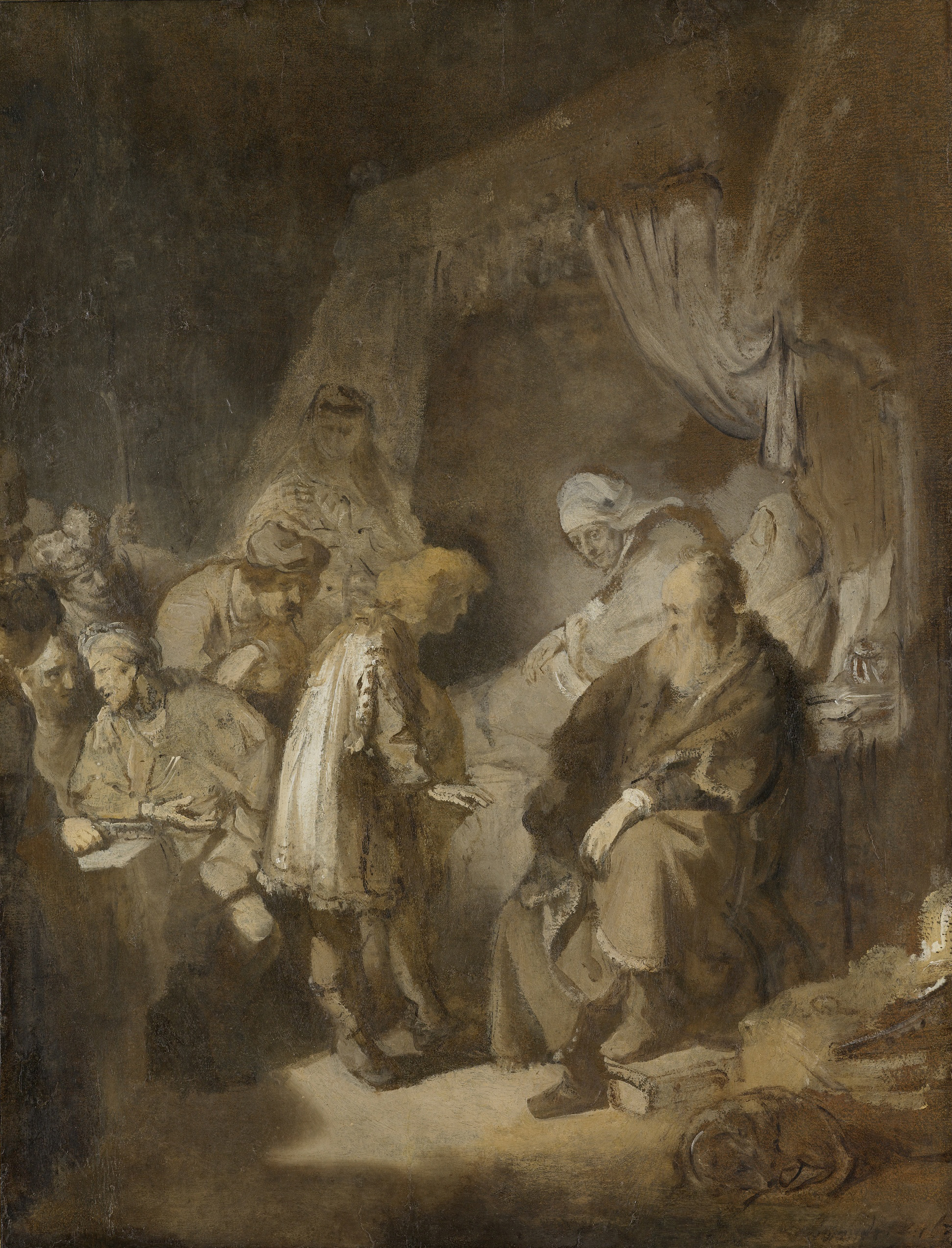 Rembrandt 1633 Joseph Telling his Dreams to his Parents and Brothers