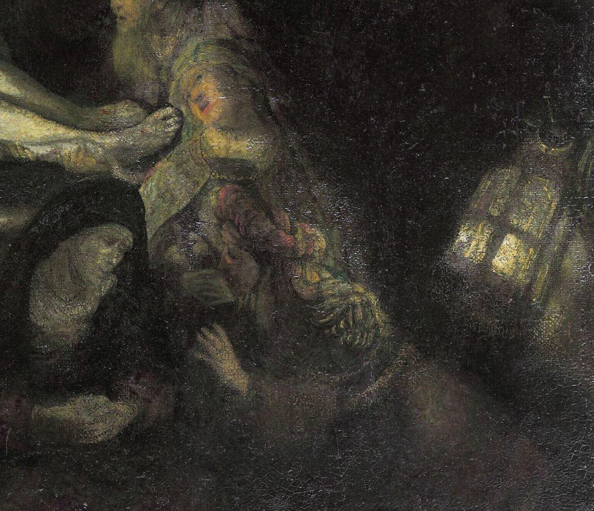 Rembrandt 1636-39 Mise au tombeau Alte Pinakothek Munich lumiere2