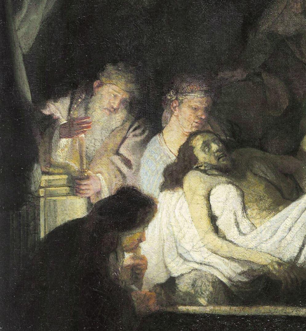 Rembrandt 1636-39 Mise au tombeau Alte Pinakothek Munich lumiere3