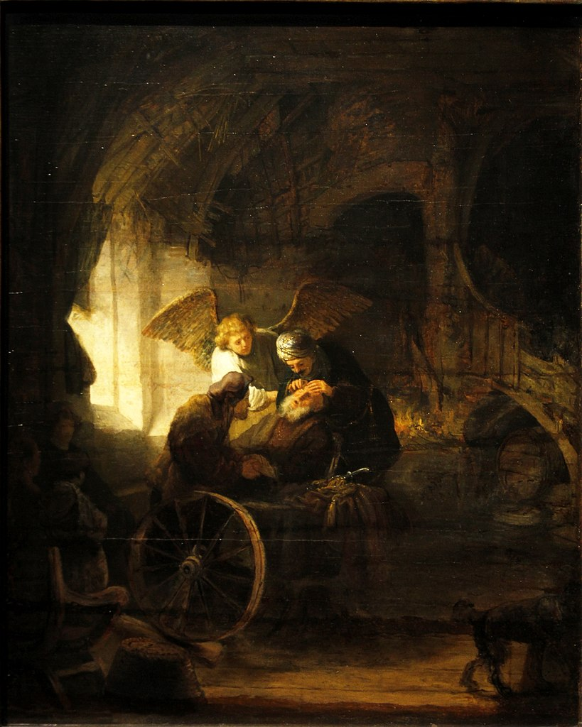 Rembrandt 1636 Tobias_Healing_his_Father_sight-_Staatsgalerie_-_Stuttgart