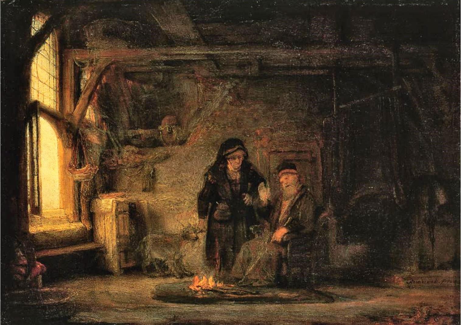Rembrandt 1645 Tobie et Anna Gemaldegallerie Berlin