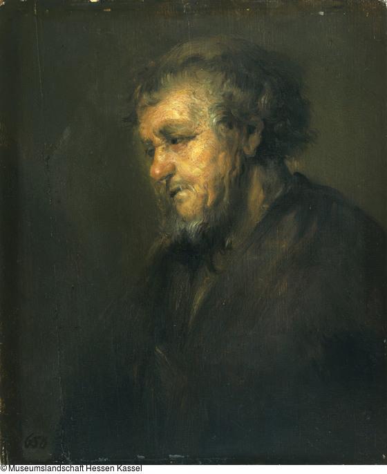 Rembrandt 1645 ca Vieil homme a la tete nue (HdG 374) Kassel
