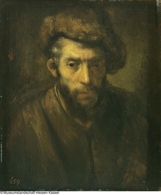 Rembrandt 1645 ca Vieux juif avec toque de fourrure (HdG 375) Kassel
