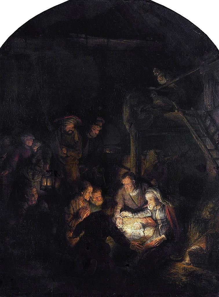 Rembrandt 1646 Adoration des Bergers Alte Pinakothek Munich