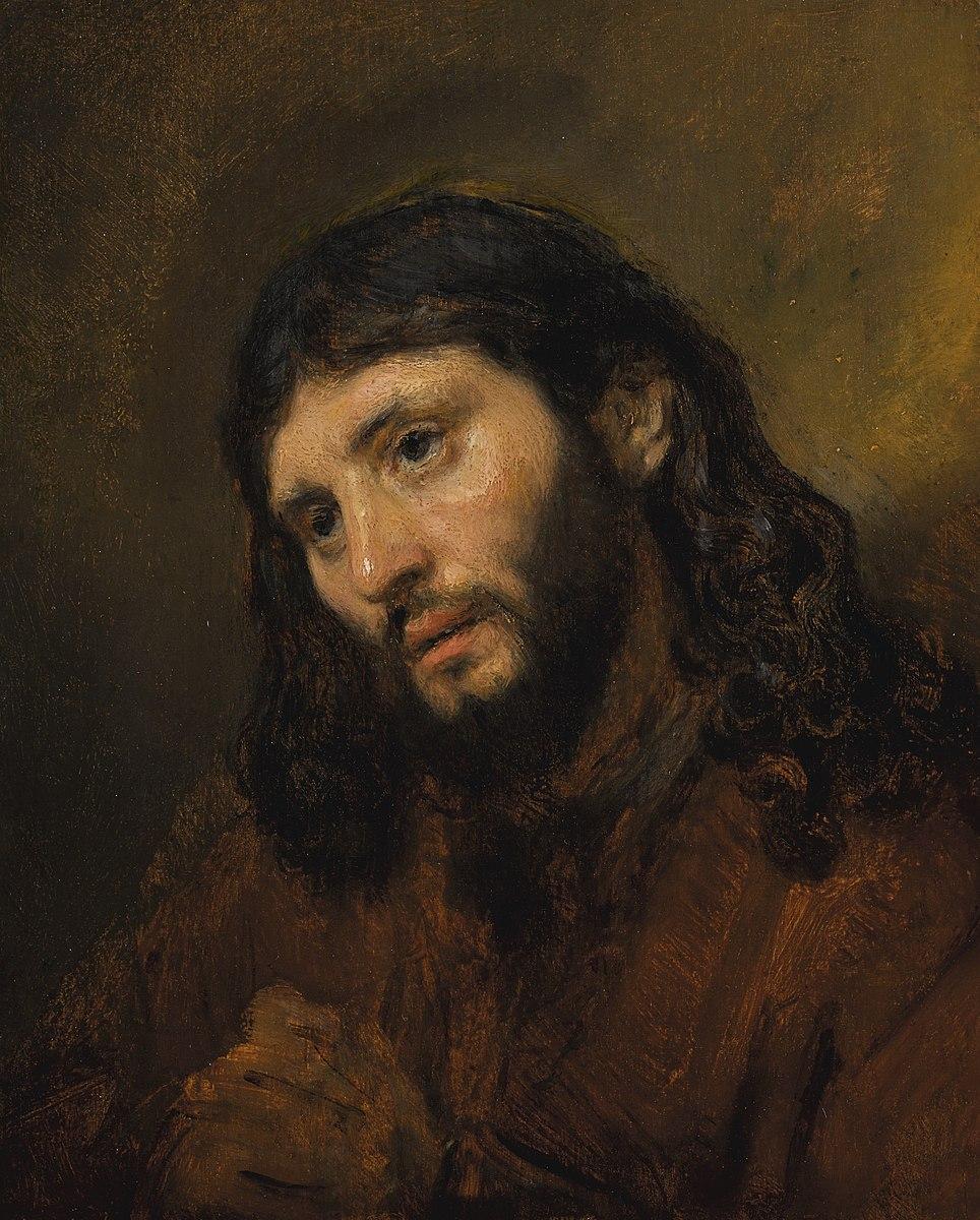 Rembrandt 1648 ca tete de Christ Louvre Abu Dhabi