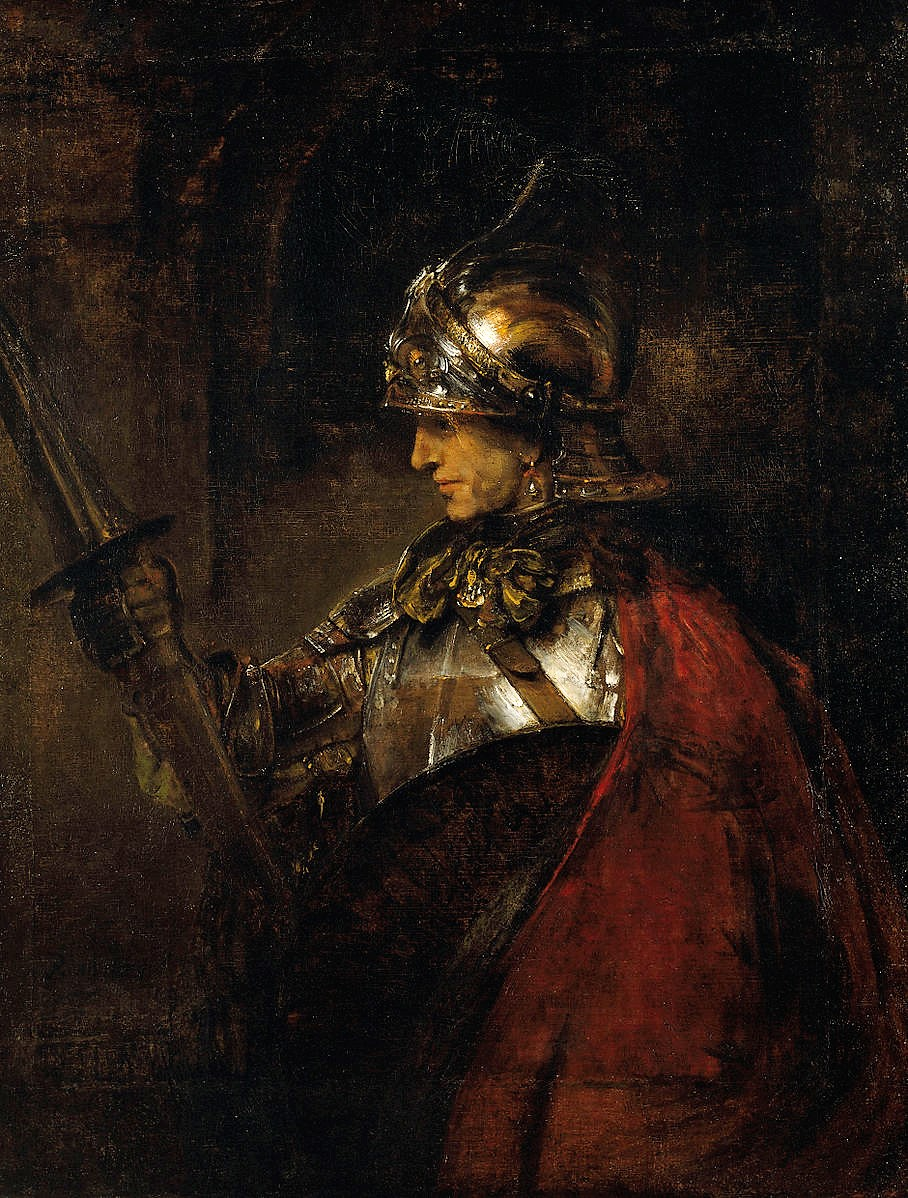 Rembrandt 1655 Man_in_Armour (Mars) Glasgow art Gallery