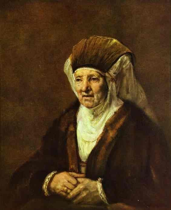 Rembrandt, 1655, Vieille femme assise National Museum, Stockholm