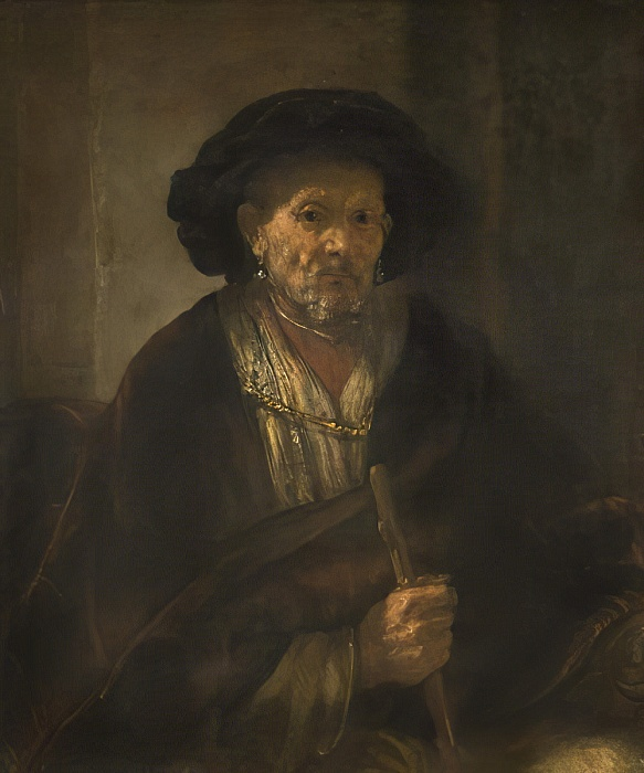 Rembrandt, 1655, Vieille homme assis National Museum, Stockholm