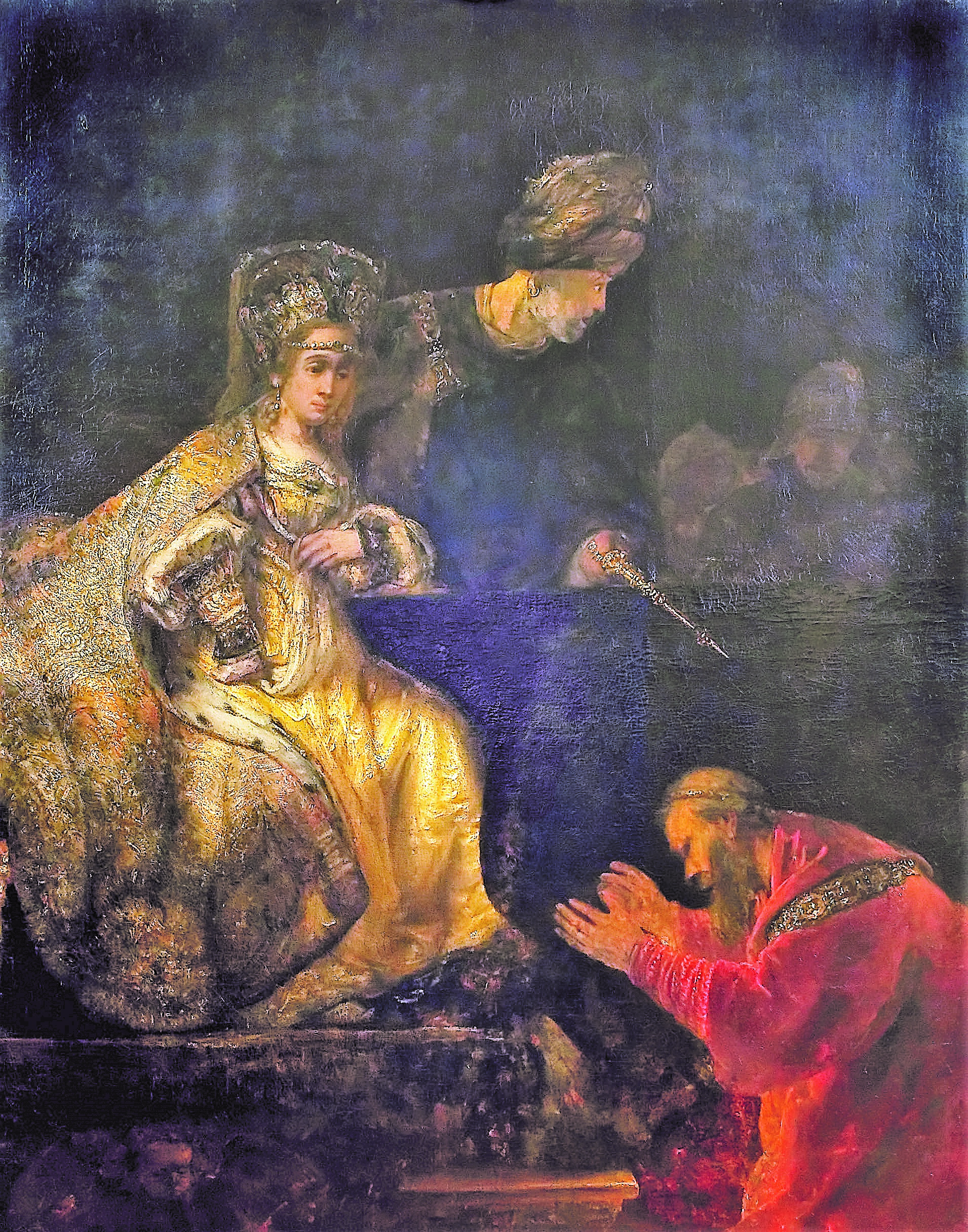 Rembrandt 1665 Haman implorant Esther Musee national d'Art de Roumanie Bucarest