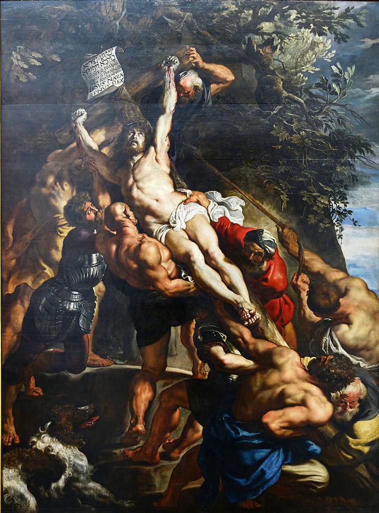 Rubens 1610-11 L'Elevation de la Croix Cathedrale Notre-Dame Anvers