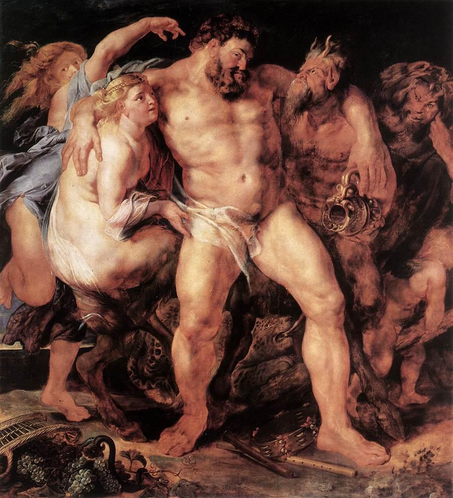 Rubens 1612-14 Hercule ivre Gemaldegalerie Dresde