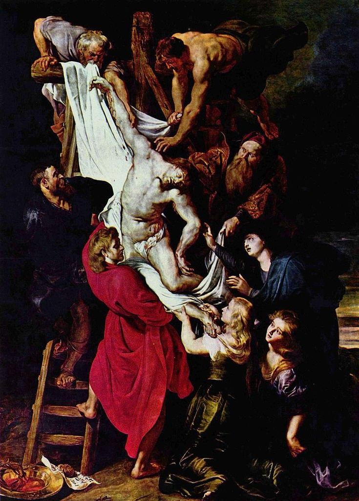 Rubens 1612-14 La descente de Croix Cathedrale Notre-Dame Anvers 420,5 × 320 cm inversee