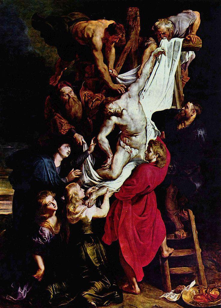Rubens 1612-14 La descente de Croix Cathedrale Notre-Dame Anvers 420,5 × 320 cm