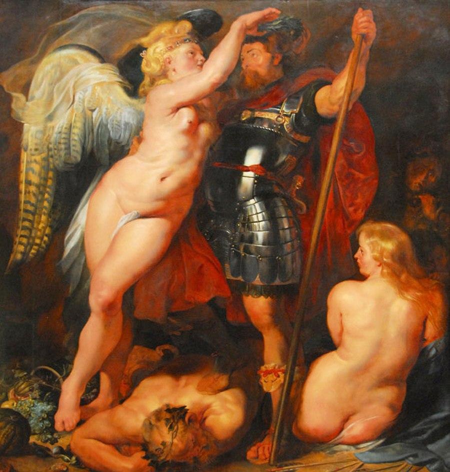 Rubens 1613-14 Le couronnement du heros vertueux Alte Pinakothek Munich 221 cm x 200.