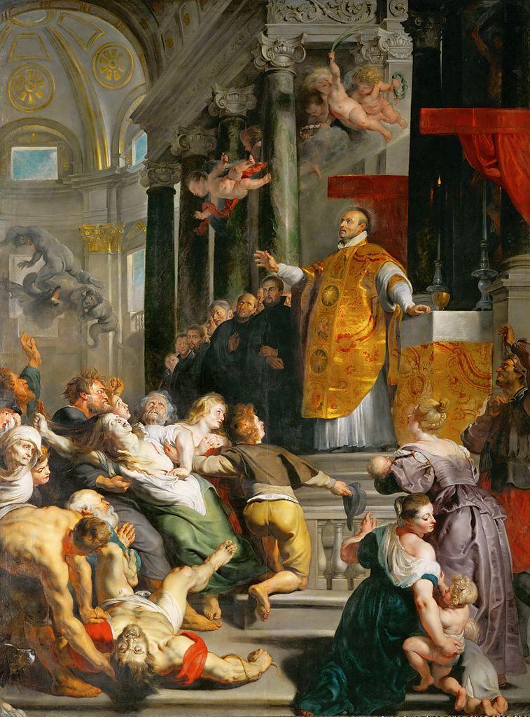 Rubens 1617-18 Les miracles de St Ignace de Loyola pour eglise des Jesuites à Anvers Musee d'histoire de l'art, Vienne 535 × 395 cm