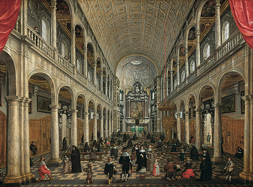 Sebastien Vranckx 1630 Interieur de l'eglise des Jesuites d'Anvers Vienne, Kunsthistorisches Museum,