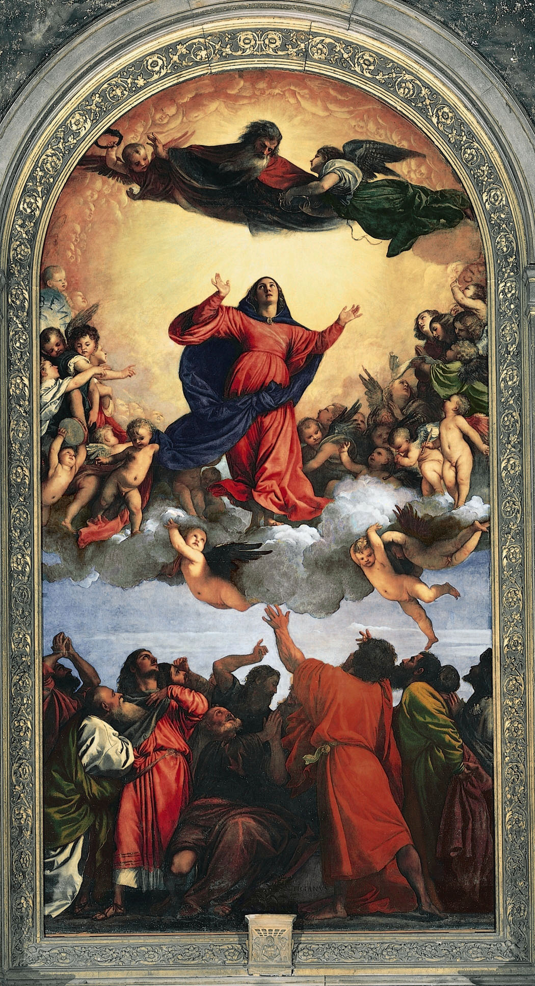 Titien 1515–1518 Assomption de la Vierge Basilica di Santa Maria Gloriosa dei Frari, Venice