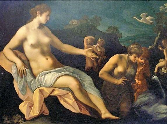 Toussaint Dubreuil 1580-1600 Leda et le cygne Louvre