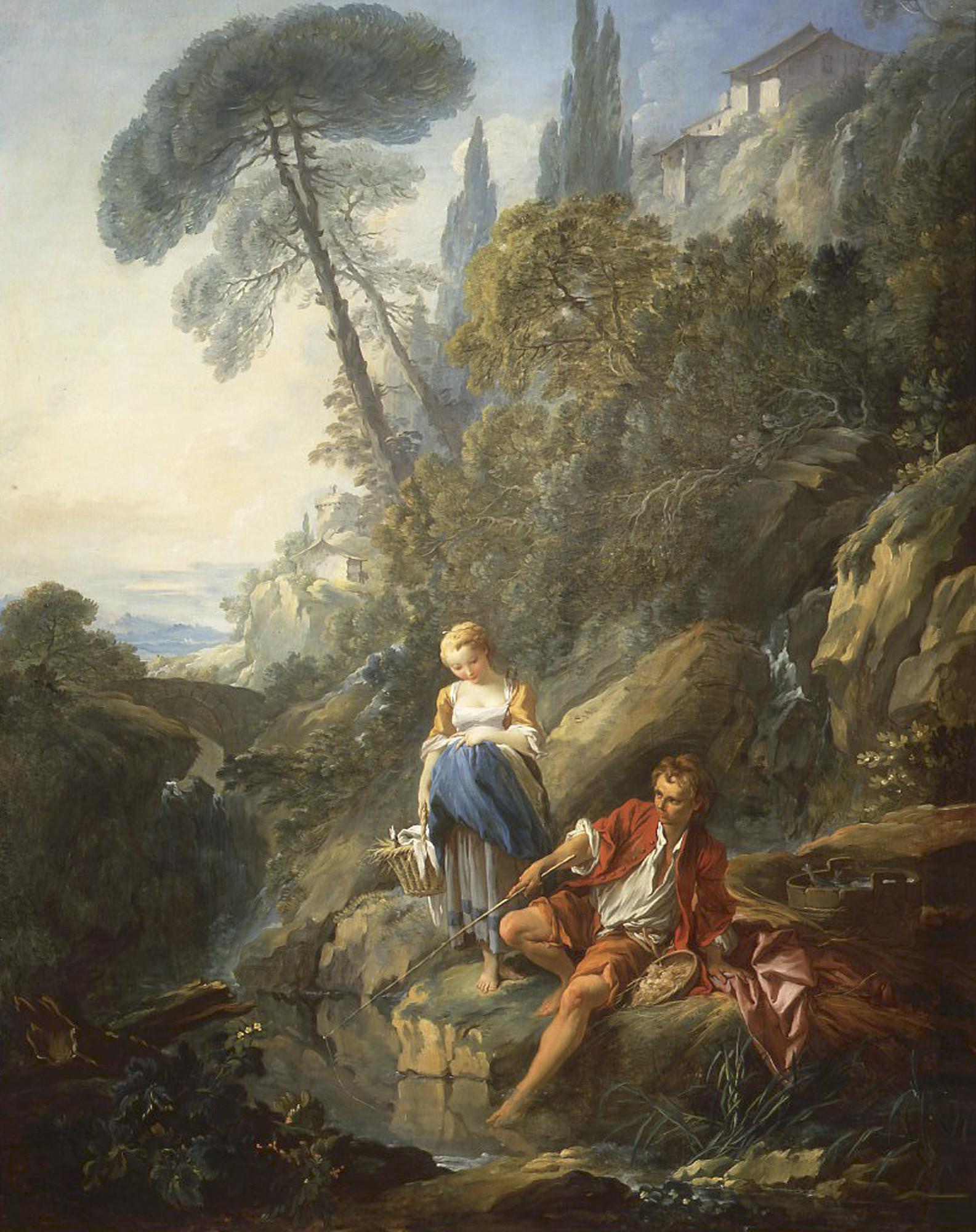 boucher 1735 ca Paysan pechant The Frick Pittsburg