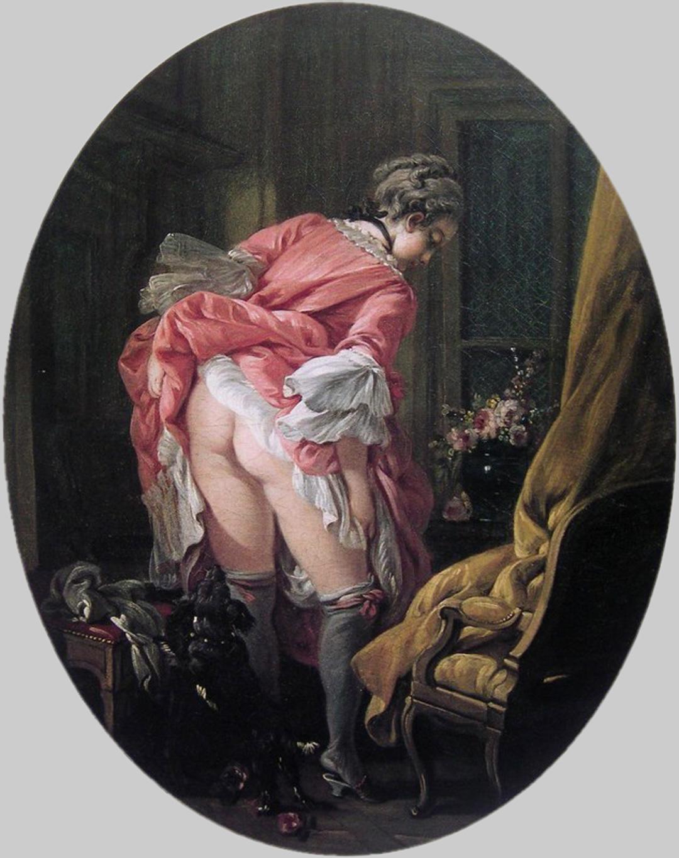boucher 1742 La jupe relevee