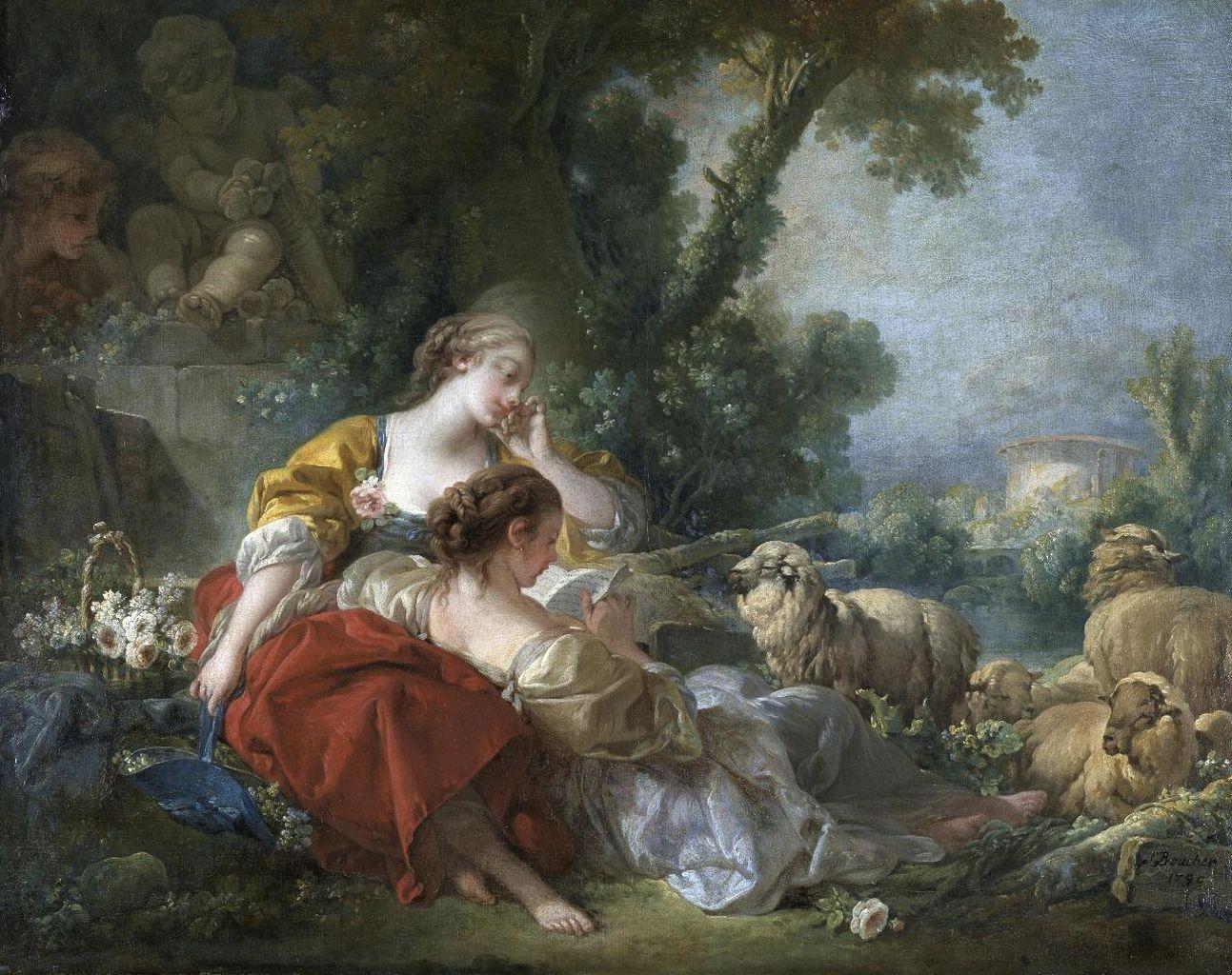 boucher 1760 l_ecole-de-l_amitie karlsruhe-staatliche-kunsthalle