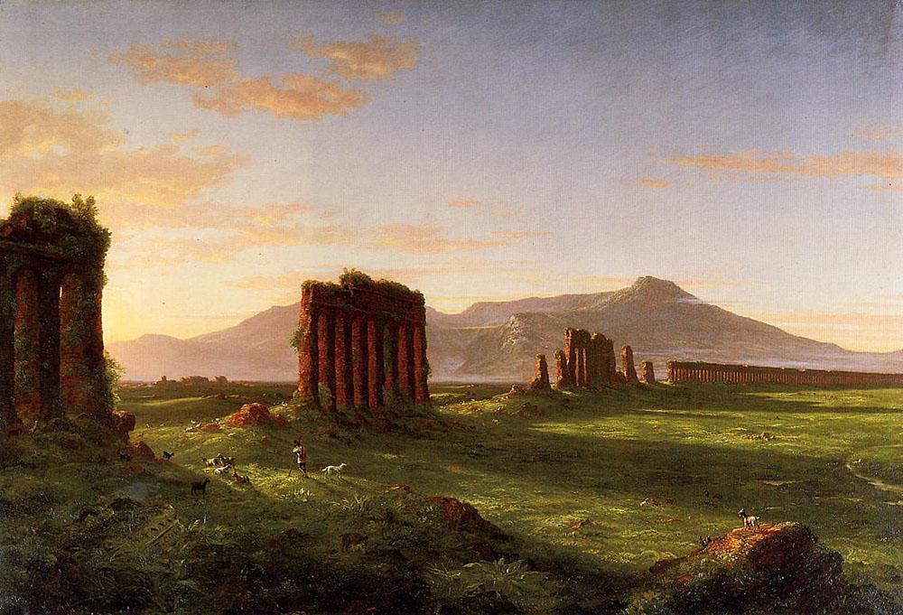 cole 1843 Roman Campagna Wadsworth Atheneum, Hartford
