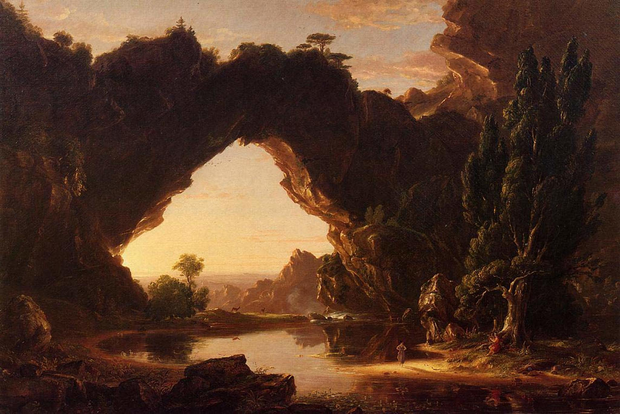 cole 1843 an-evening-in-arcadia Wadsworth Atheneum, Hartford