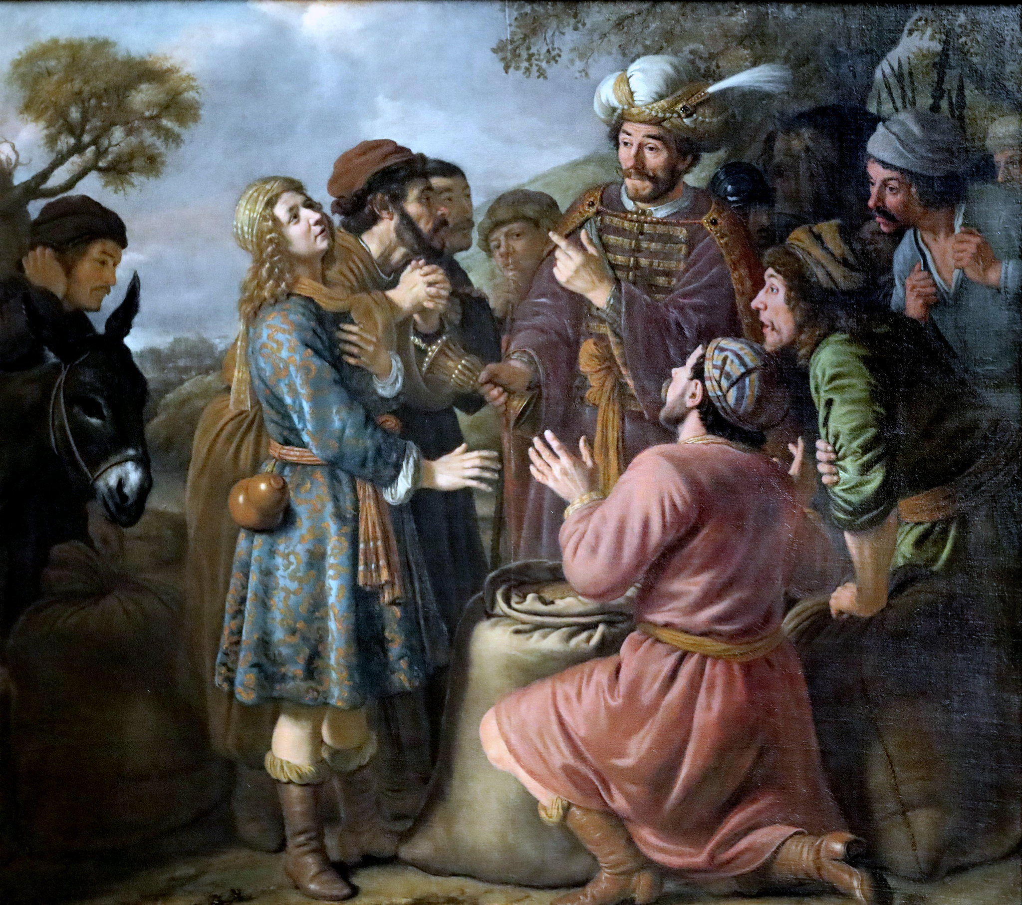 jan victors 1653 The Finding of the cup in Benjamin's sack Gemaldegalerie Alte Meister Dresde photo JL Mazieres