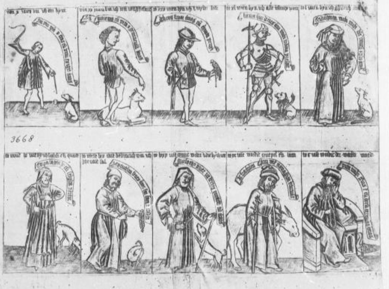 meister bandrolle 1475 zehn lebensalter des Mannes, Bayerisches Staatbibliothek