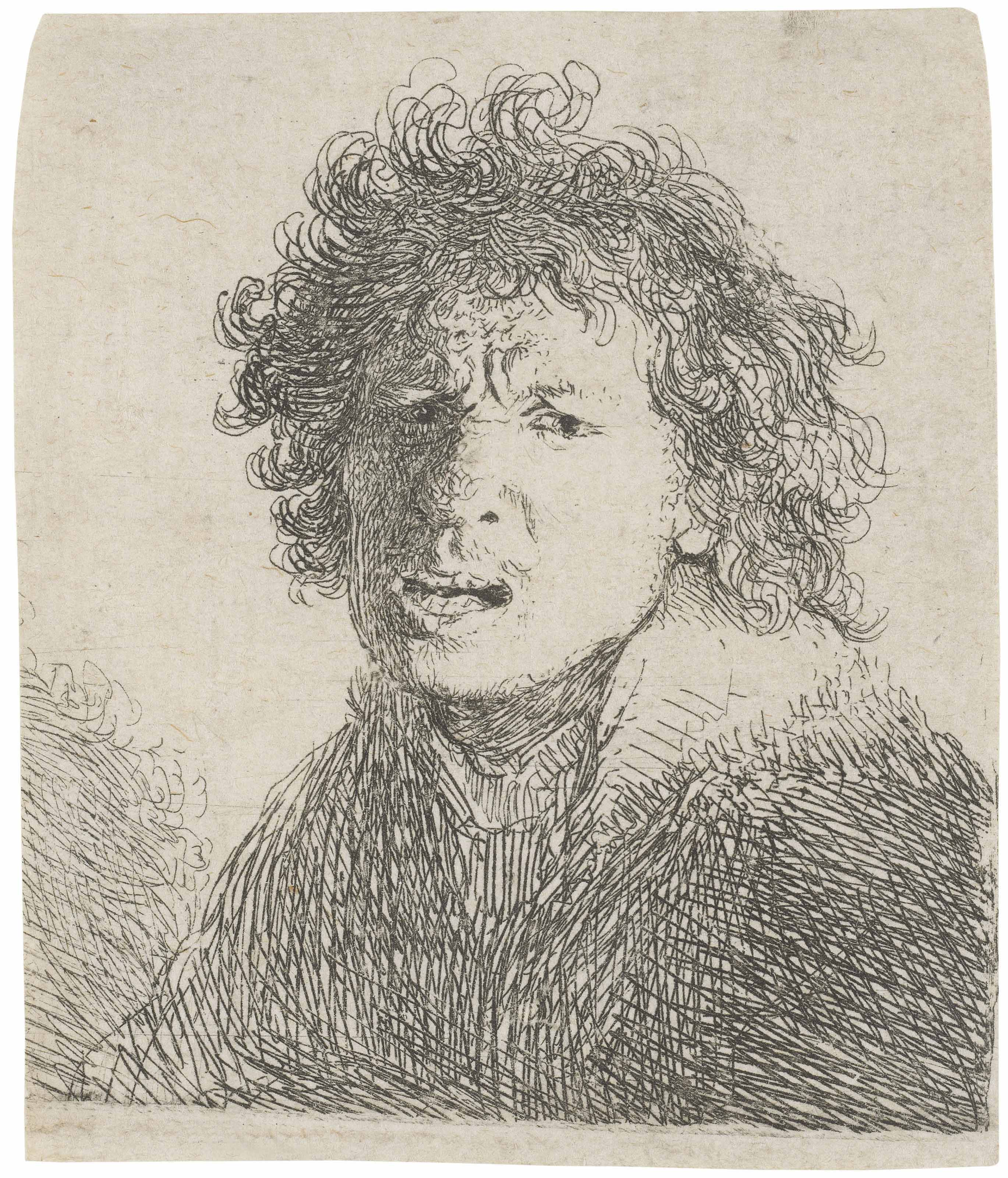 rembrandt 1630 ca self-portrait_open-mouthed_as_if_shouting)