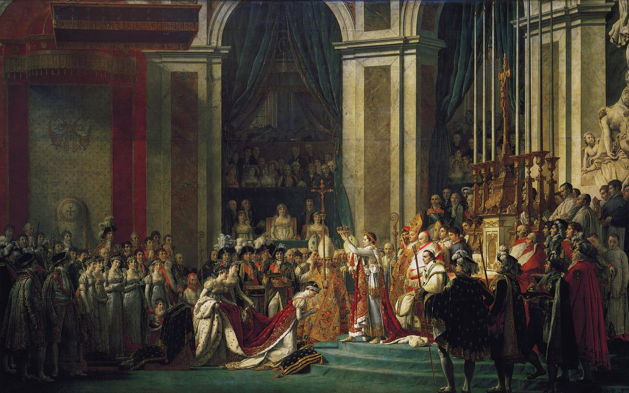 David 1807 Le sacre de Napoleon Louvre
