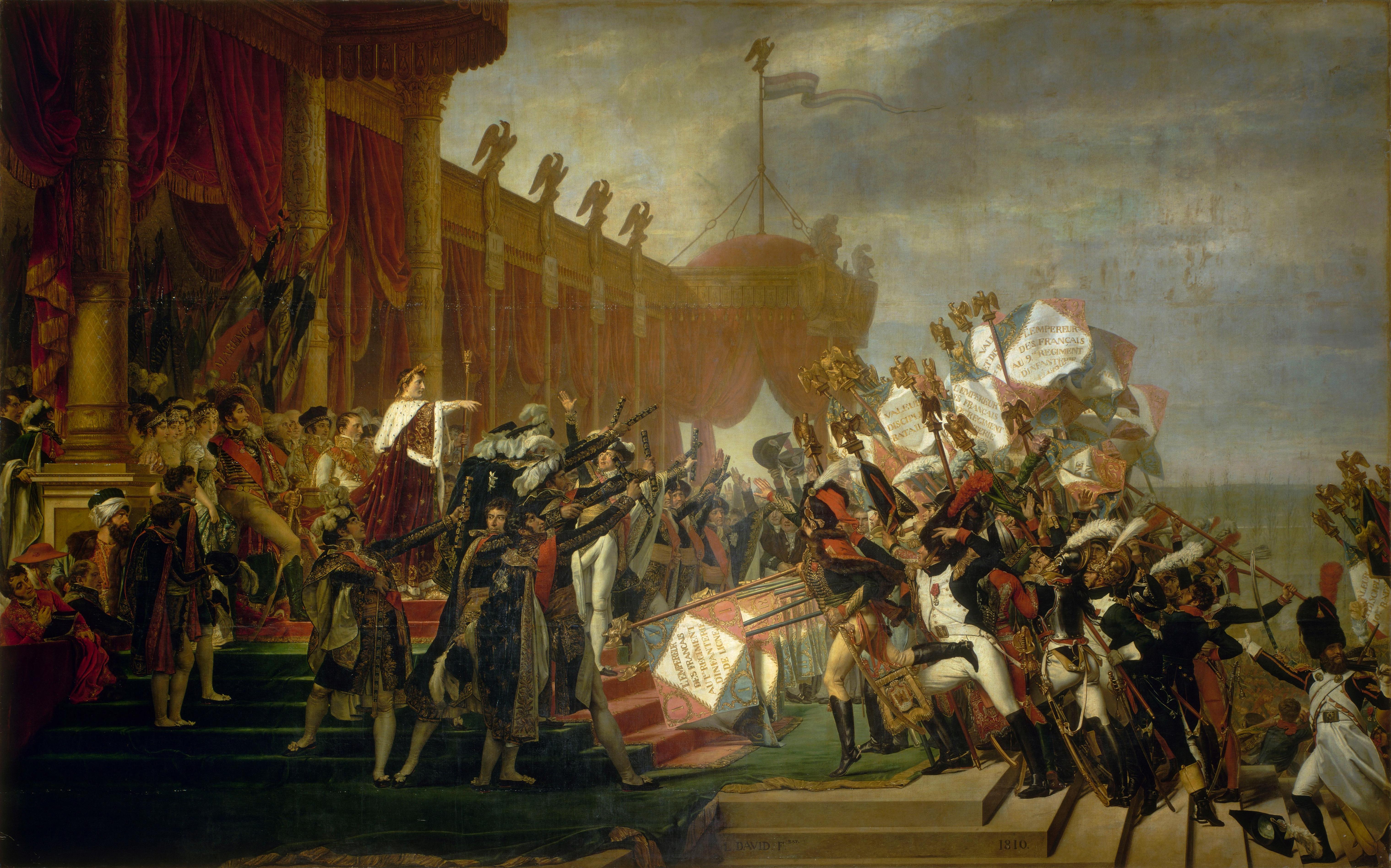 David 1810 Serment_de_l'armee_fait_a_l'Empereur_apres_la_distribution_des_aigles,_5_decembre_1804 Versailles