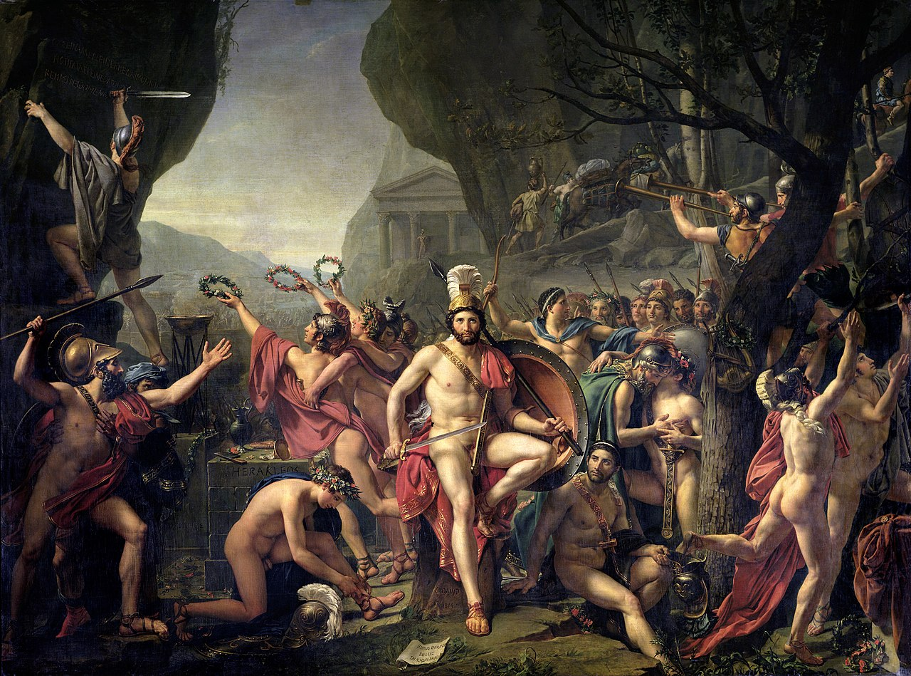 David 1814 Leonidas aux Thermopyles Louvre