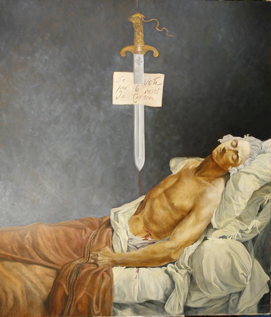 David Les Derniers moments de Michel Lepeletier 1793 reconstitution