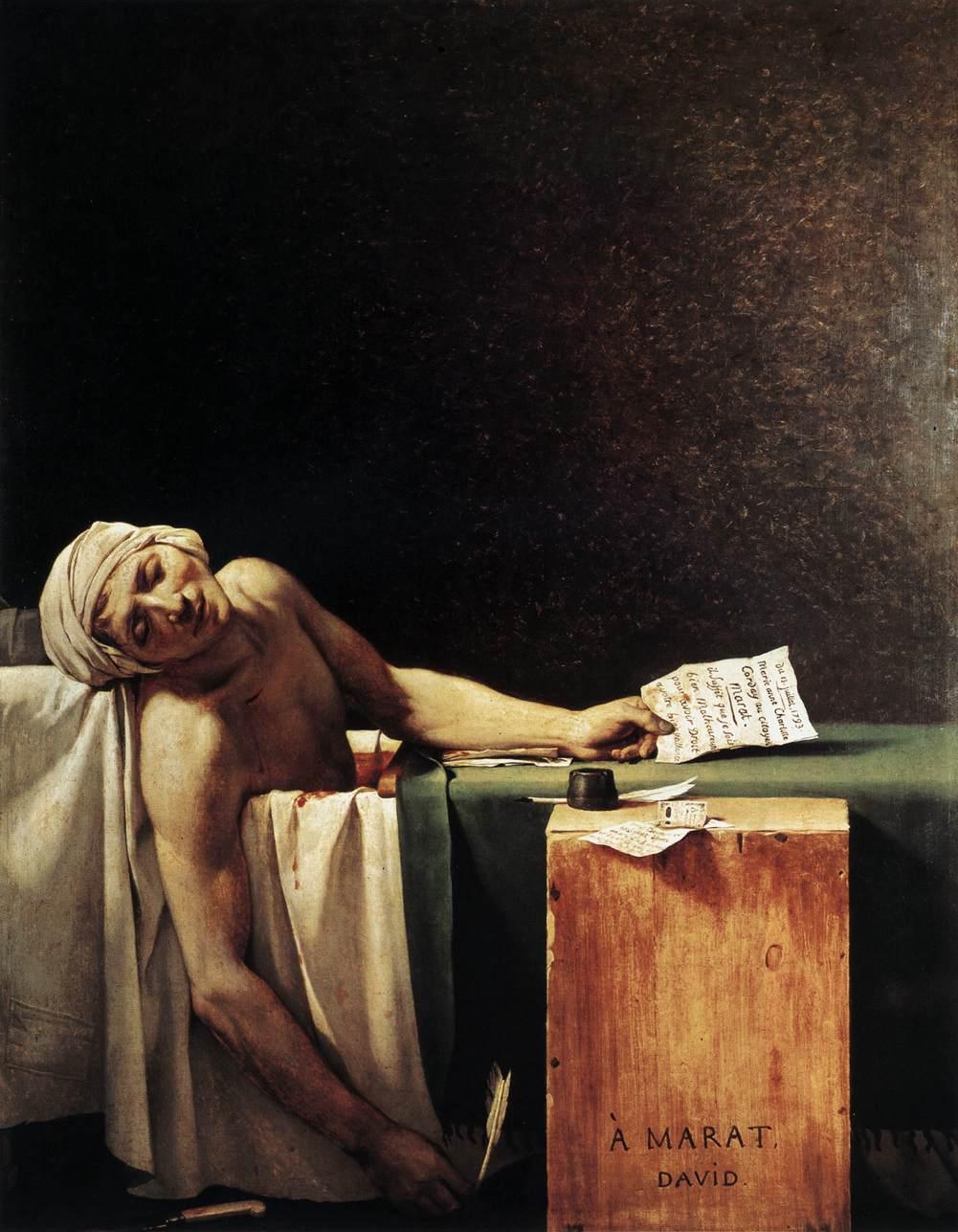 David Marat assassine 1793 Musee Royal Beaux Arts Bruxelles 165 x 128