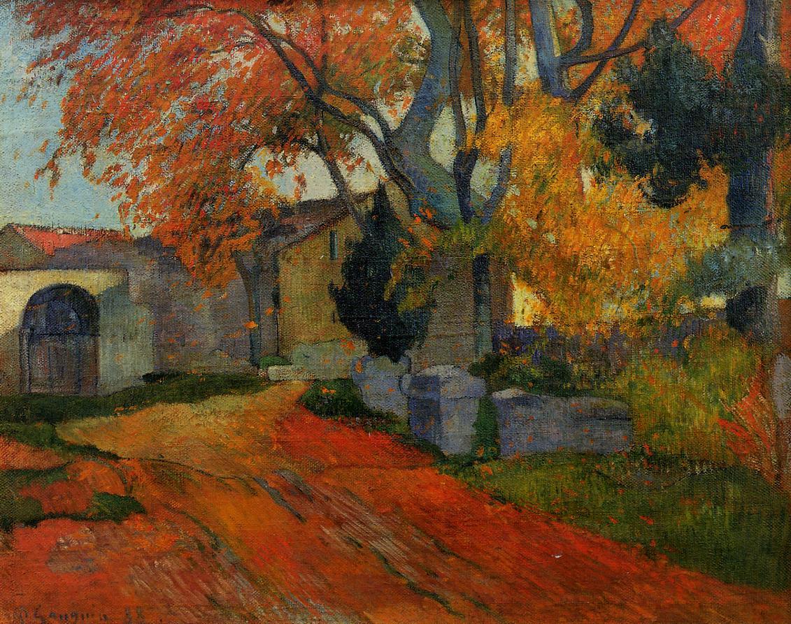 Gauguin 1888 Allee des Alyscamps Museum of Art, Tokyo.