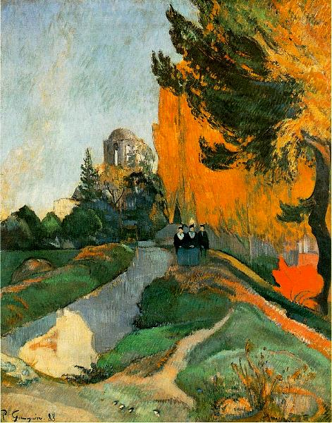 Gauguin 1888 Les Alyscamps Musee d'Orsay