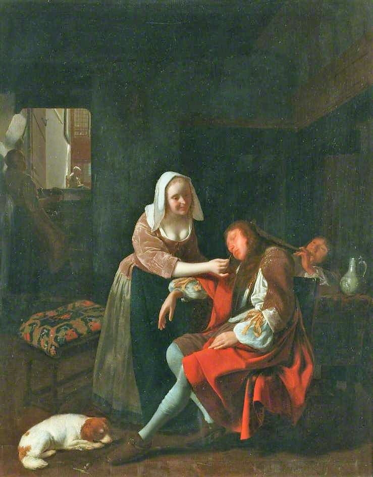 Jacob-Ochtervelt-1660-65-The-Sleeping-Cavalier-Manchester-Art-Gallery-46.0