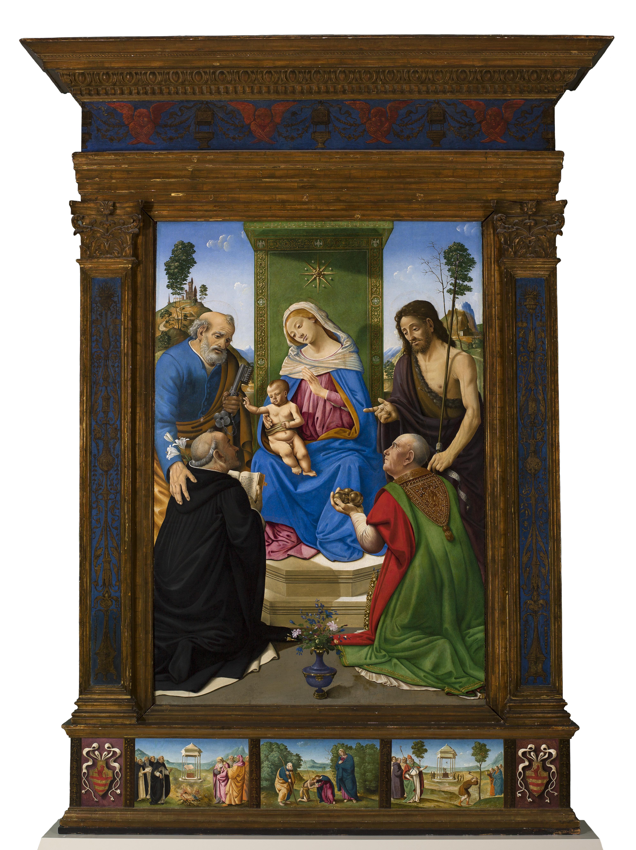 Piero di Cosimo 1481-85 Pugliese-Altar Saint Louis Art Museum