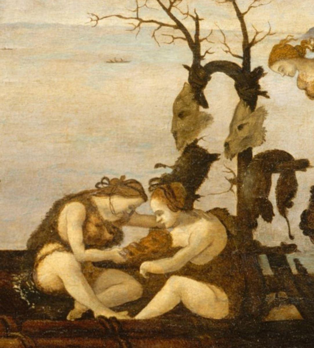 Piero di Cosimo 1494–1500 MET retour de la chasse detail2