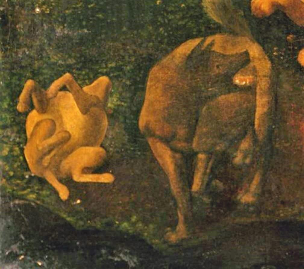 Piero di Cosimo 1494–1500 MET scene de chasse detail1