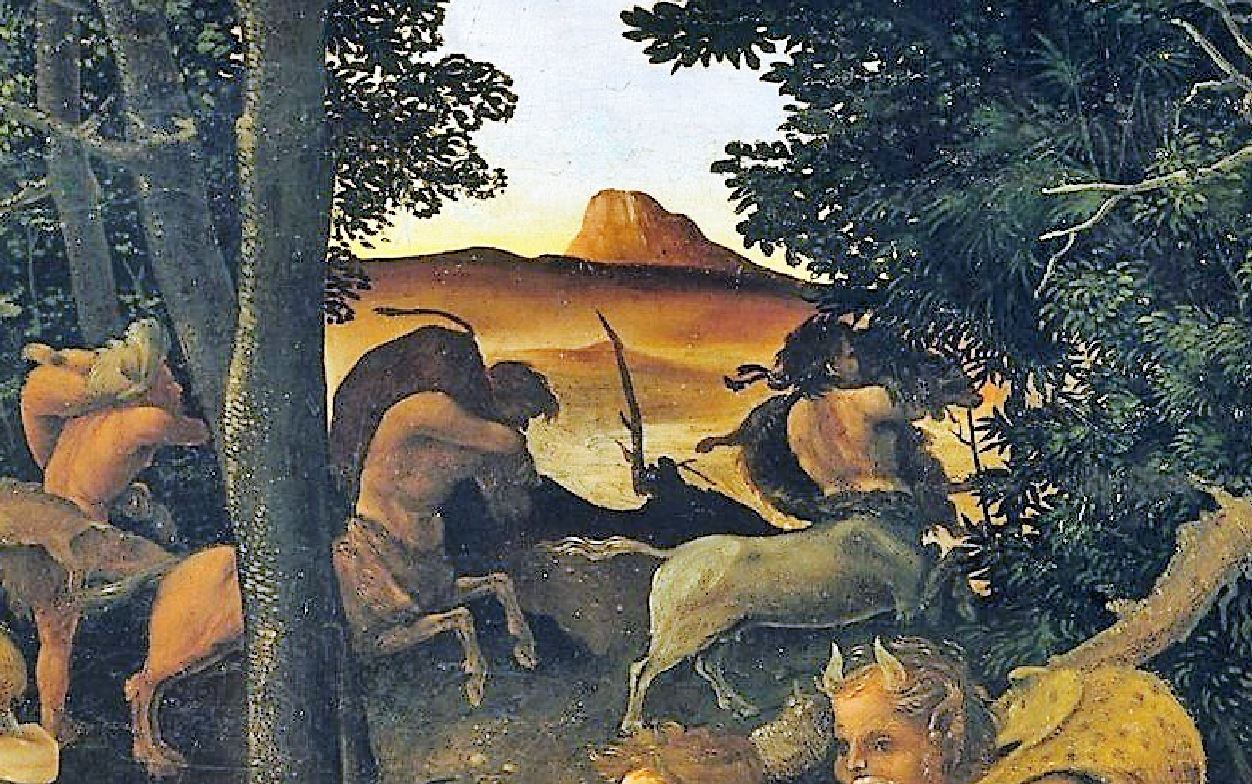 Piero di Cosimo 1494–1500 MET scene de chasse detail4