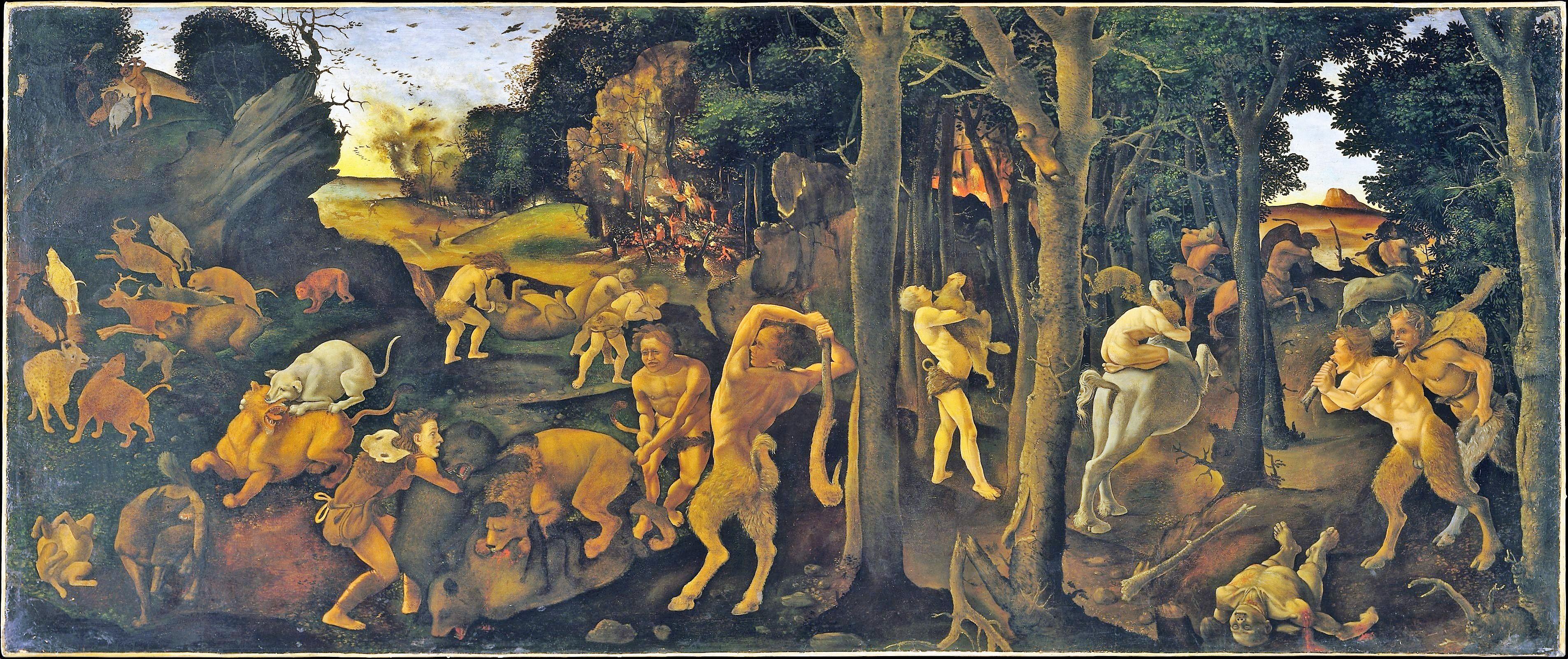 Piero di Cosimo 1494–1500 MET scene de chasse