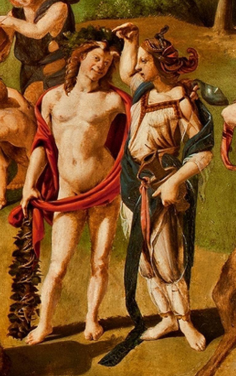 Piero di Cosimo 1499 Bacco_scoperto_miele ]Worcester Art Museum detail bacchus